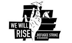 Streik der iranischen Flüchtlinge in Regensburg